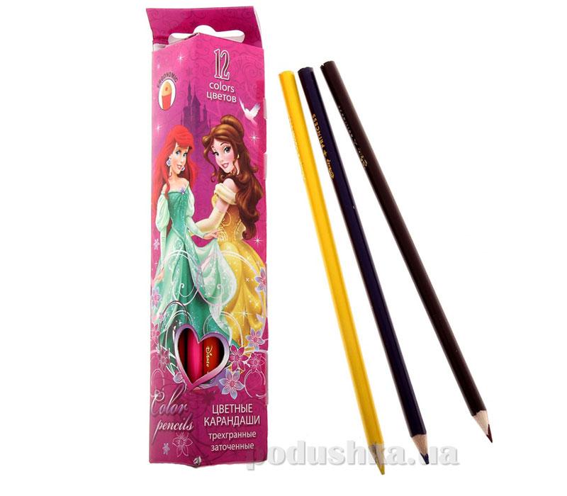 Набор цветных карандашей (треугольные) Princess
