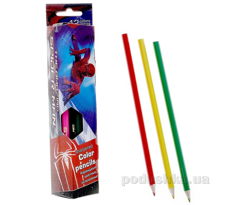 Набор цветных карандашей, треугольные Spider-man SM4U-12S-3P-12