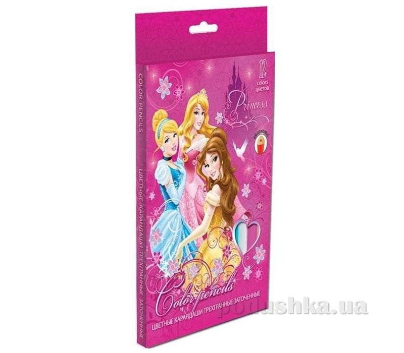 Набор цветных карандашей (треугольные, толстые) Princess