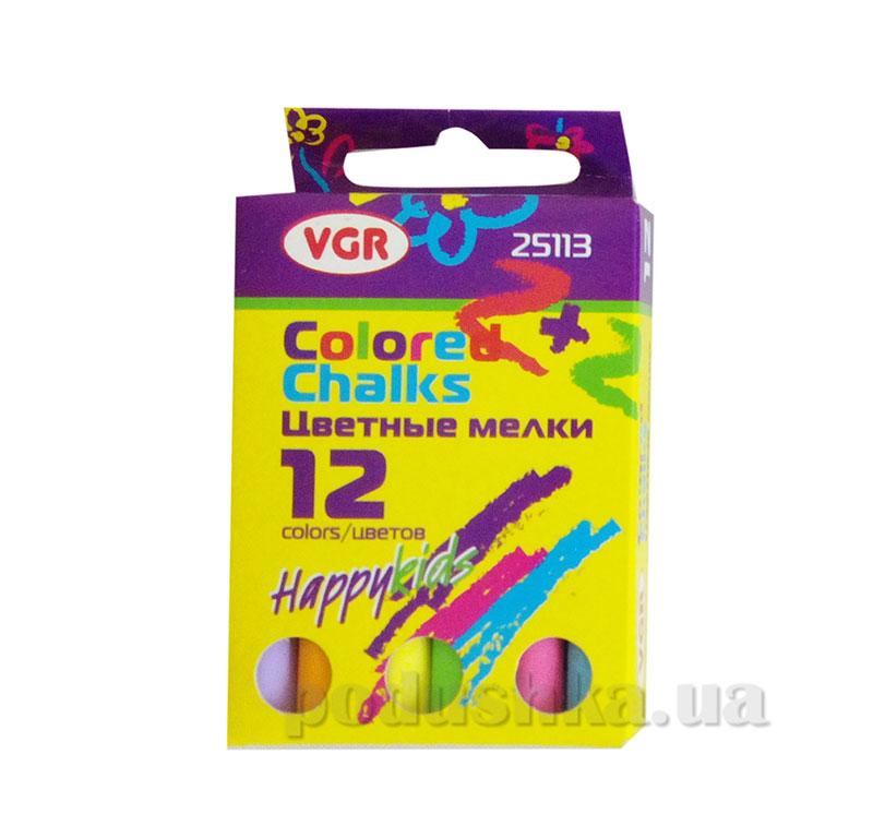 Набор цветных мелков для асфальта 12 шт VGR 25113