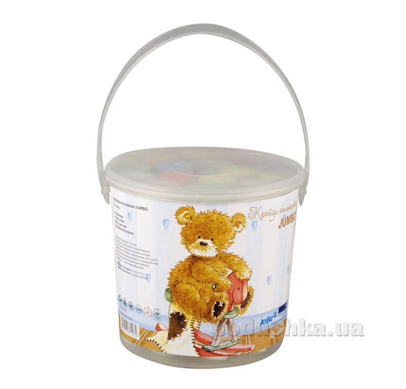 Набор цветных мелков в ведерке Popcorn Bear PO14-074K