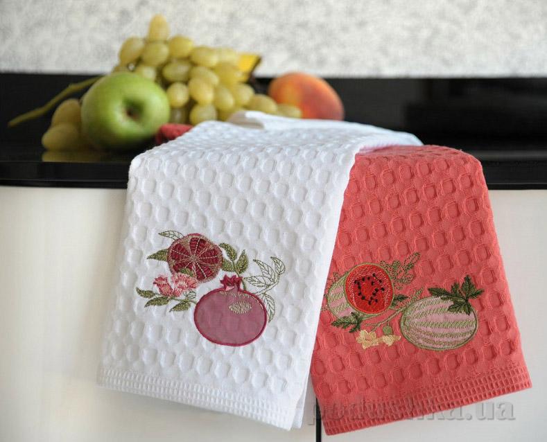 Набор вафельных кухонных полотенец Arya Karpuz-Nar
