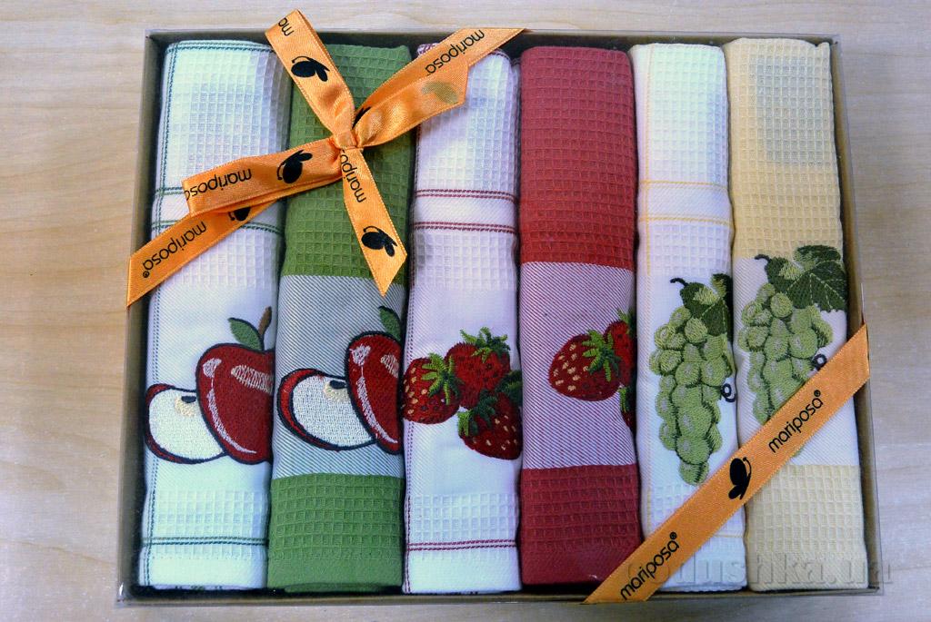 Набор вафельных кухонных полотенец Mariposa 029 Фрукты