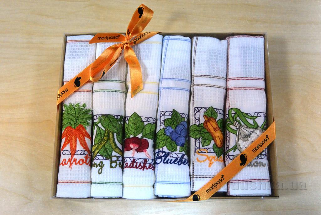 Набор вафельных кухонных полотенец Mariposa 029 Овощи