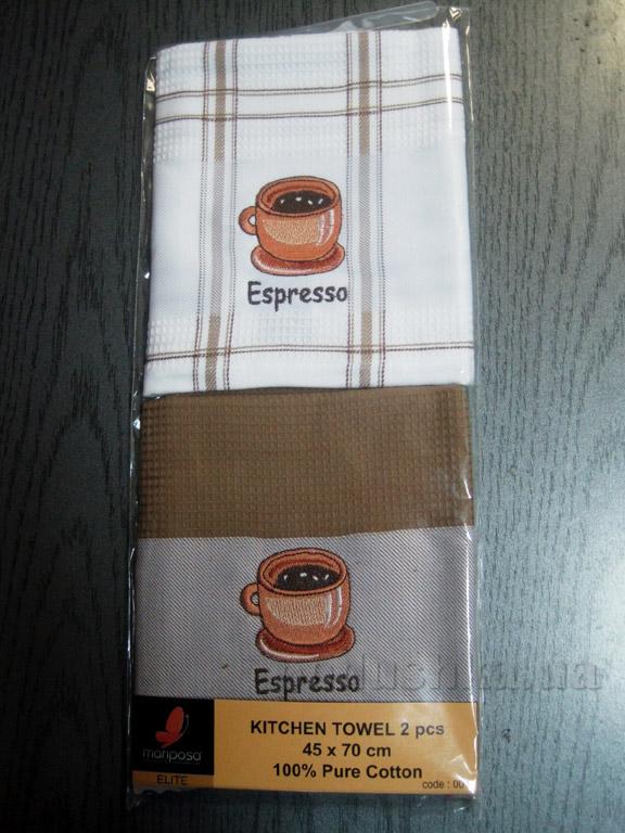 Набор вафельных кухонных полотенец Mariposa Эспрессо 001