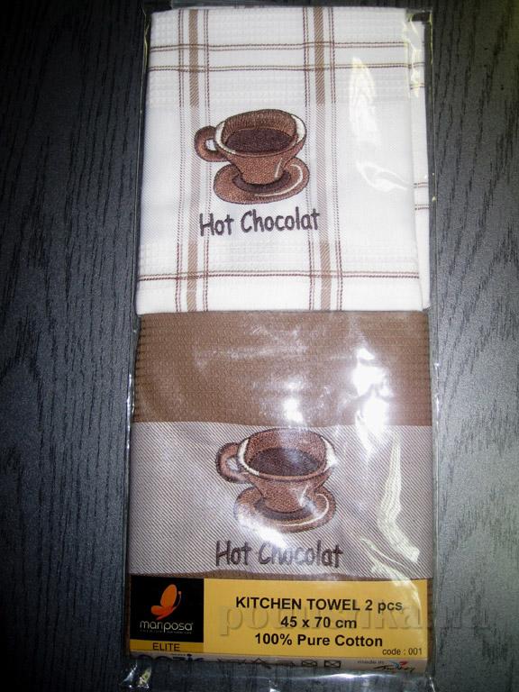 Набор вафельных кухонных полотенец Mariposa Горячий шоколад 001