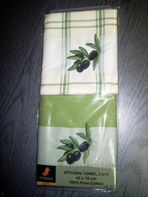 Набор вафельных кухонных полотенец Mariposa Маслины 001