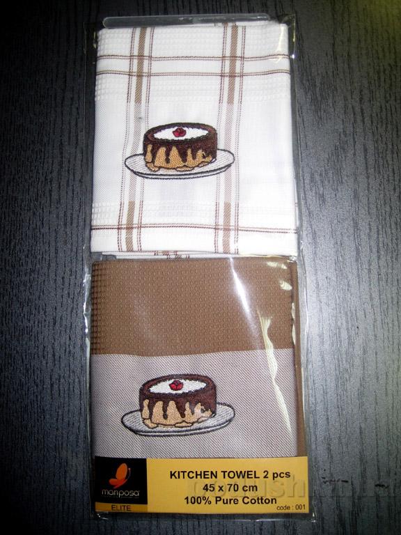 Набор вафельных кухонных полотенец Mariposa Тортик 001