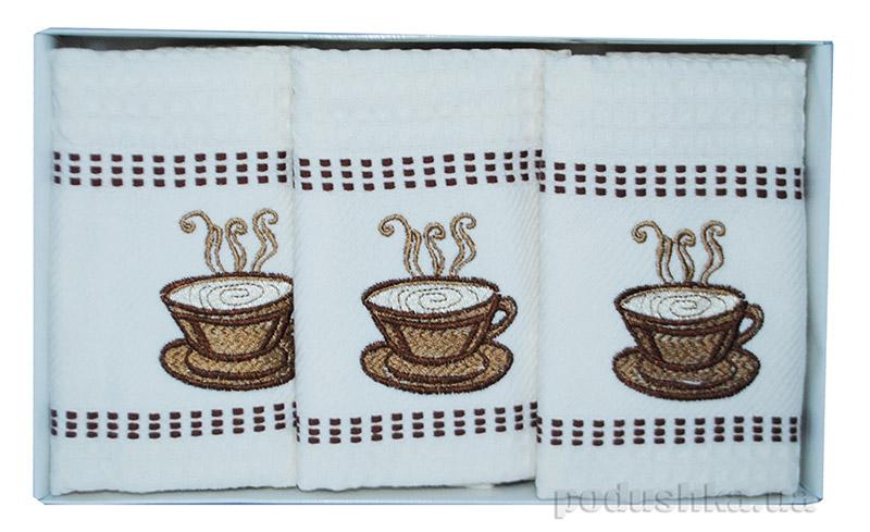 Набор вафельных полотенец в коробке Megan Чашка чаю