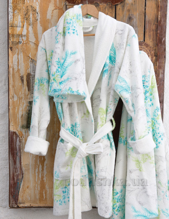 Набор женский Karaca Casimiro халат и полотенца S/M + 2 полотенца Karaca home