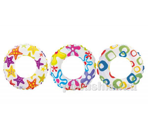 Надувной круг Intex Цветной 59241