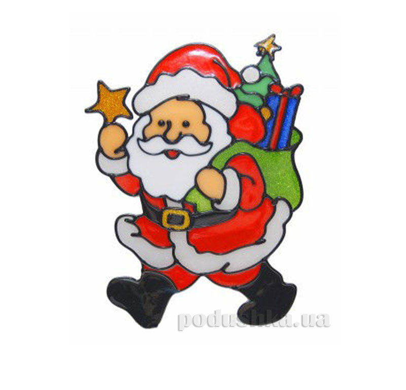 Наклейка новогодняя Дед мороз Канцактив