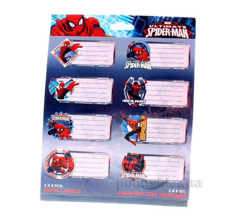 Наклейки для тетрадей Spider-man SMAB-US1-STCR-BL16