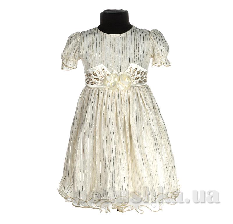Нарядное платье для девочки Anna-s Elenka молочно-золотое