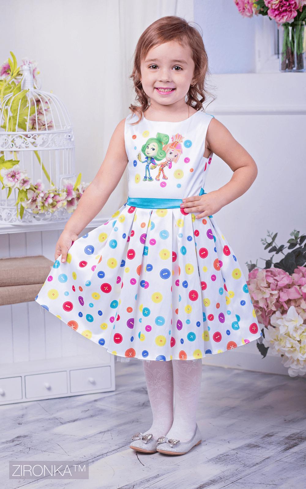 Нарядное платье для девочки Фиксики Zironka 195-1