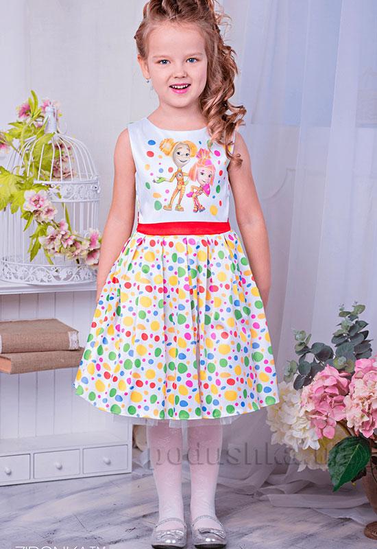 Нарядное платье для девочки Фиксики Zironka 195-3