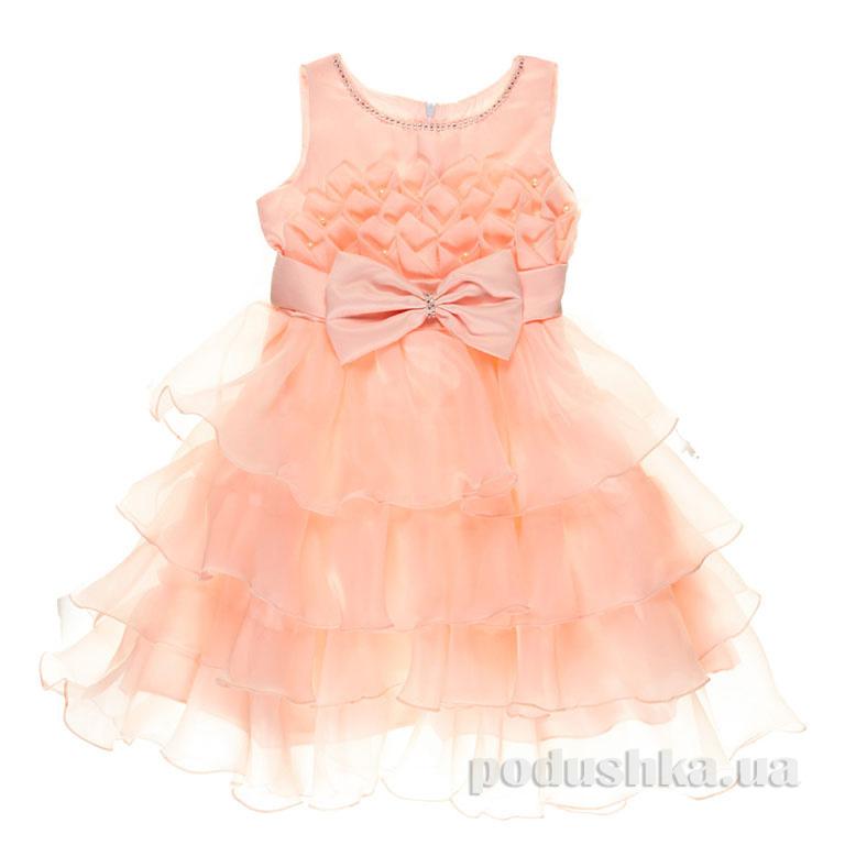 Нарядное платье для девочки Margo 8804 персиковое