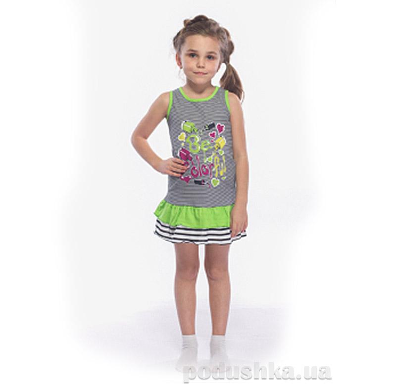 Платье для девочки 1467 П МТФ фисташковое
