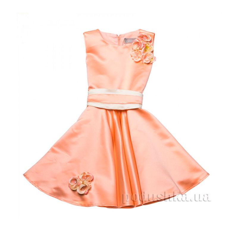 Нарядное платье Kids Couture 15-251 персиковое