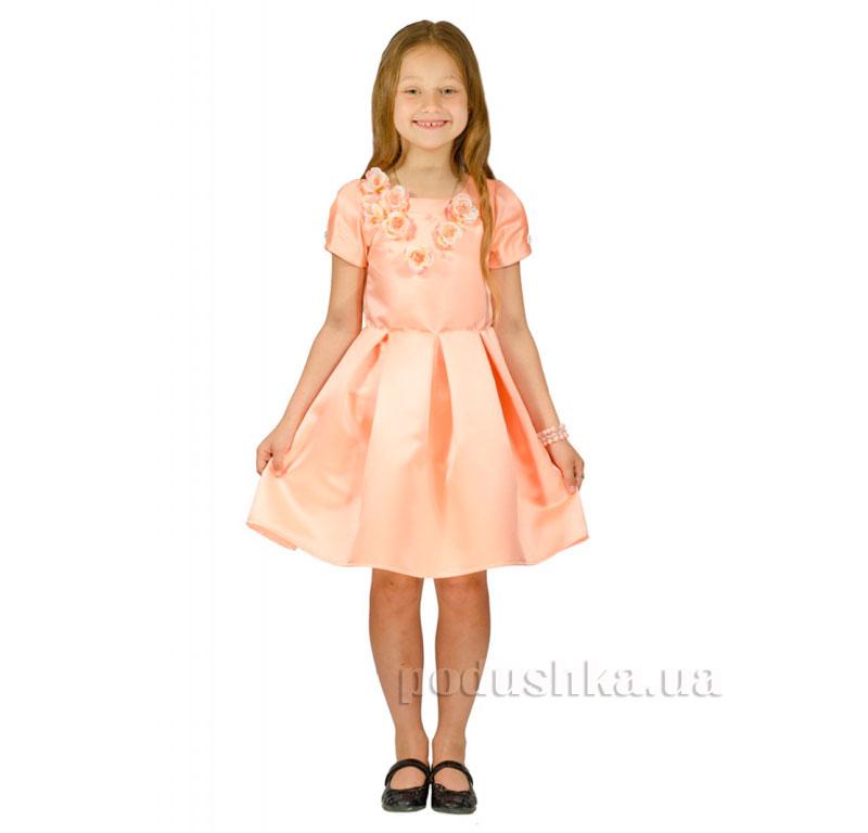 Нарядное платье Kids Couture 15-255 персиковое