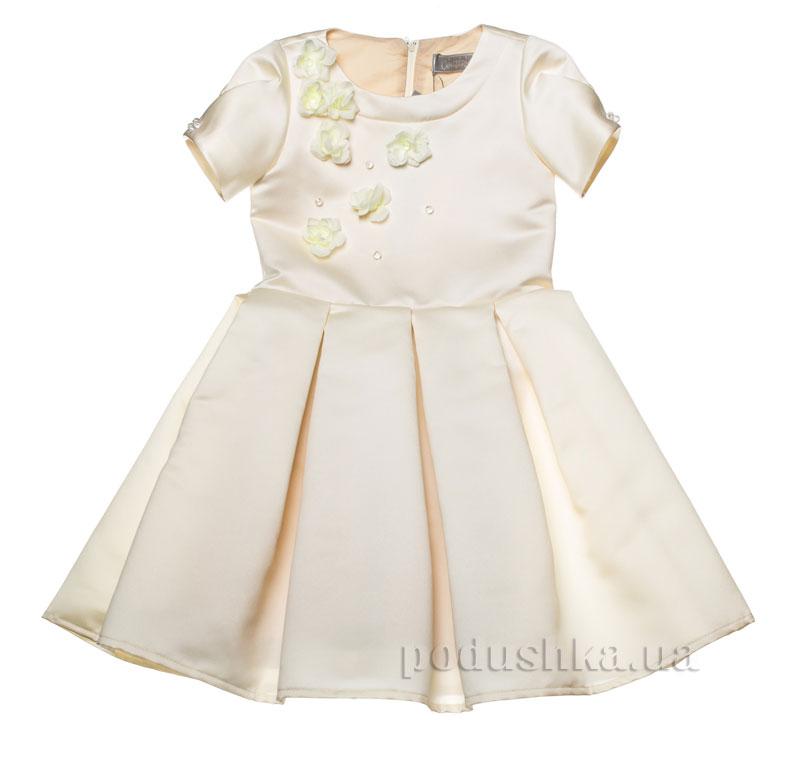 Нарядное платье Kids Couture 15-255 молочное