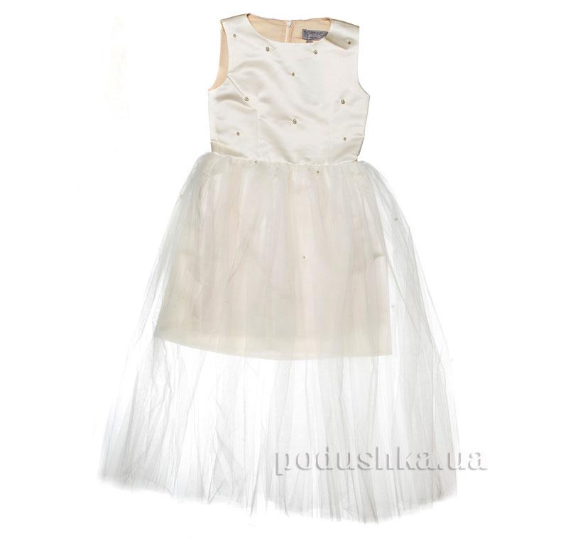 Нарядное платье Kids Couture 15-258 молочное