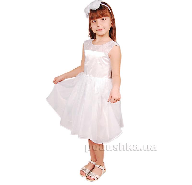 Нарядное платье Kids Couture 15-401 белое