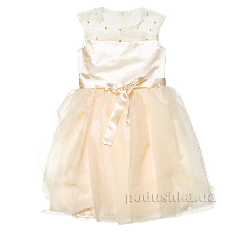 Нарядное платье Kids Couture 15-401 молочное