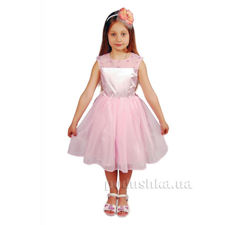 Нарядное платье Kids Couture 15-401 розовое