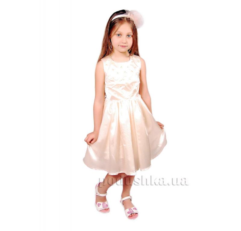 Нарядное платье Kids Couture 15-405 молочное