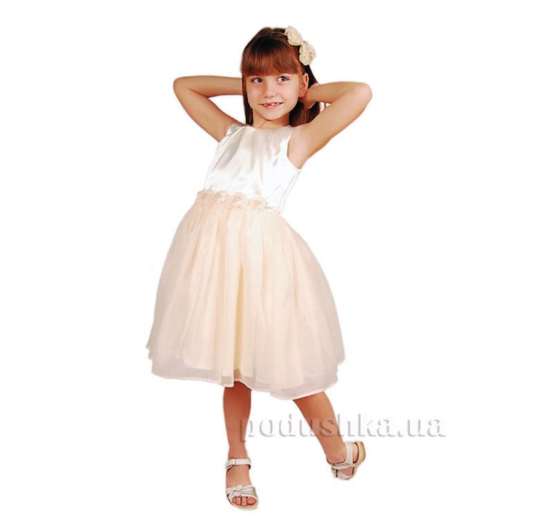 Нарядное платье Kids Couture 15-407 молочное
