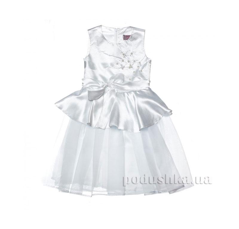 Нарядное платье Kids Couture 15-408 белое