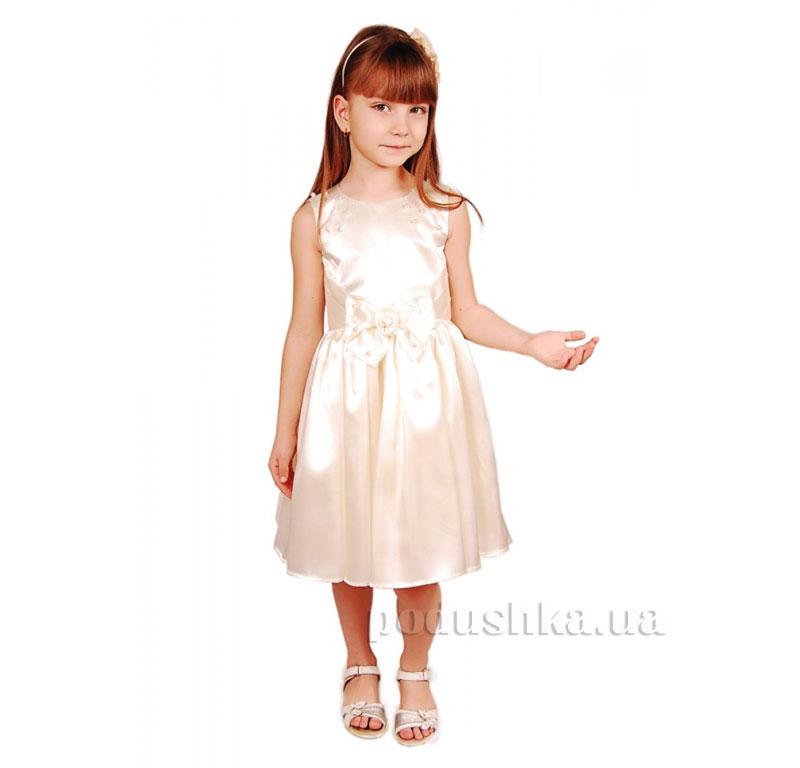Нарядное платье Kids Couture 15-409 молочное