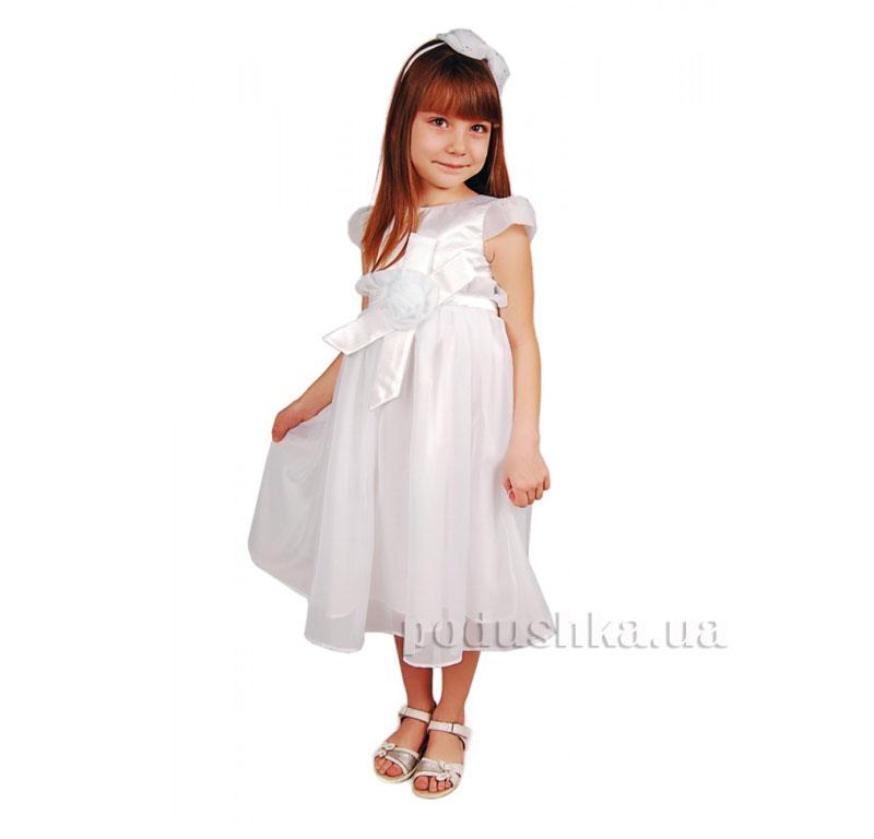 Нарядное платье Роза Kids Couture 15-404 белое
