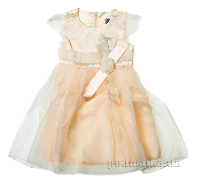 Нарядное платье Роза Kids Couture 15-404 молочное