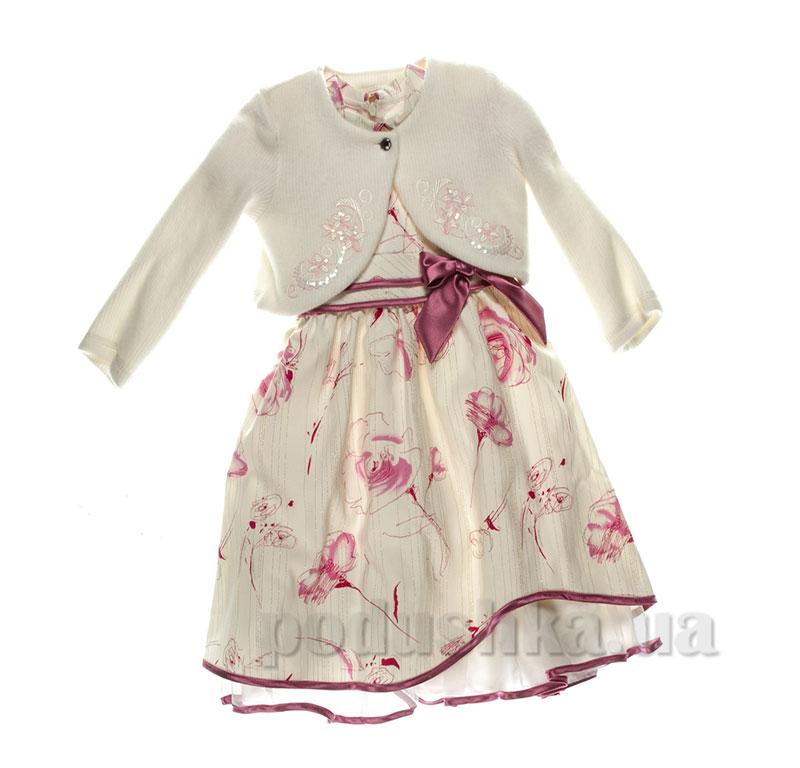 Нарядный комплект для девочки платье + болеро Irenka Anna-s