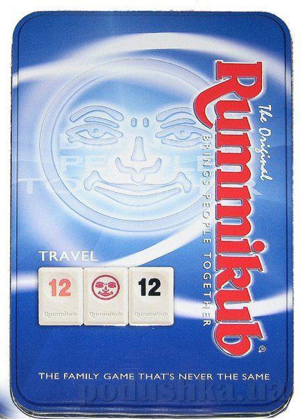 Настольная дорожная игра в металлической коробке Rummikub KodKod 1520