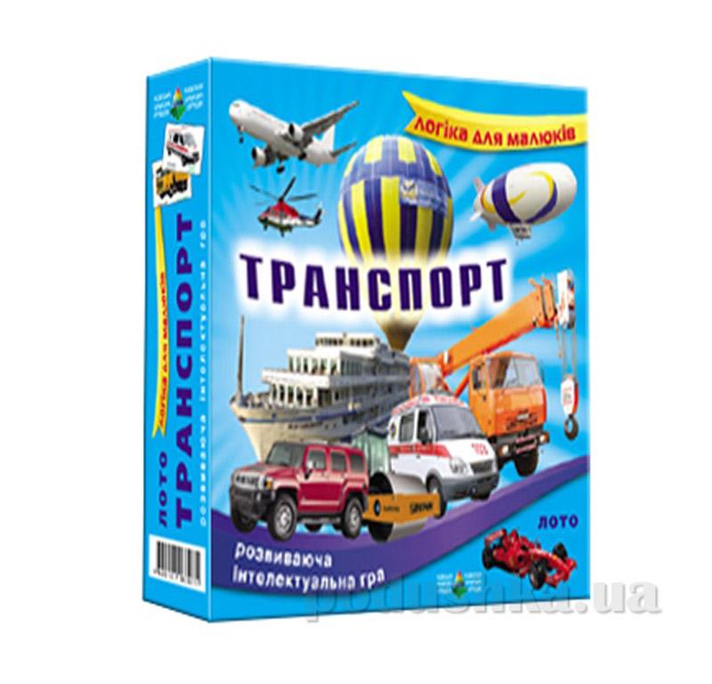 Настольная игра лото Транспорт Energy Plus 6001352