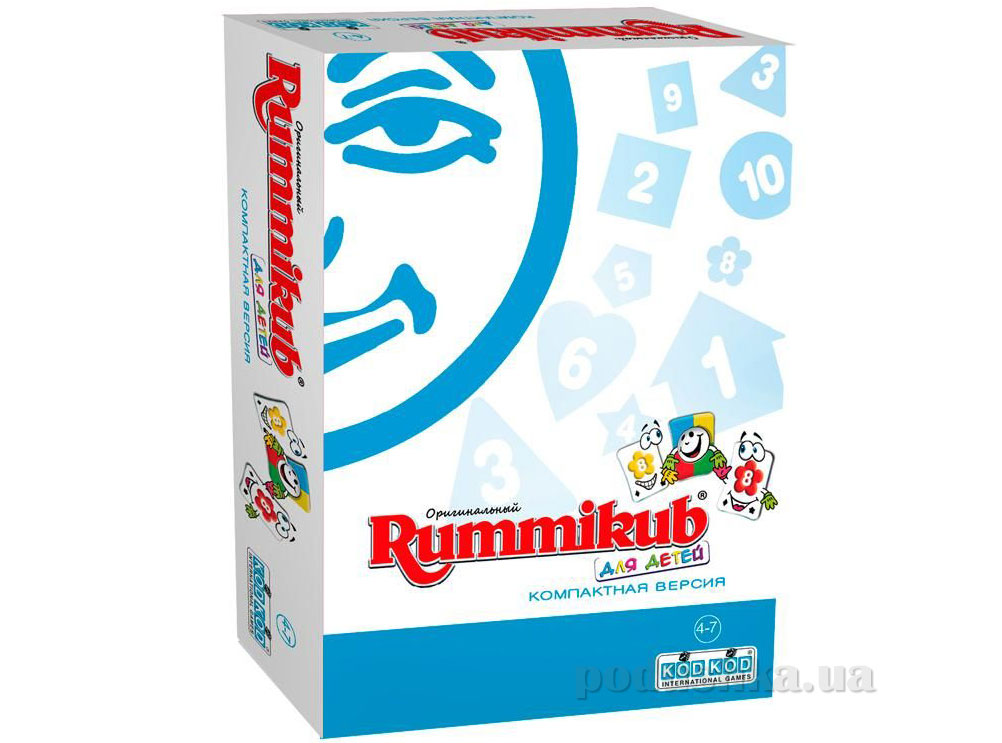 Настольная игра Rummikub для детей компактная версия KodKod 8602   KodKod