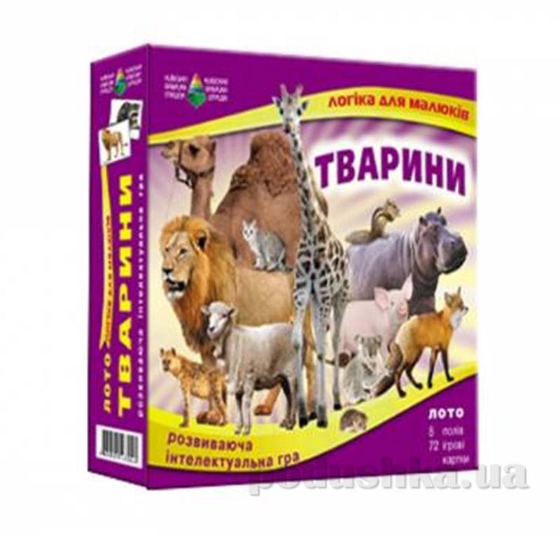 Настольная игра Животные детское лото Energy Plus 6001351