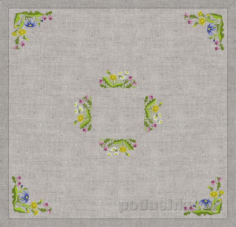 Настольник Полевые цветы Гармония 12357 серый лен