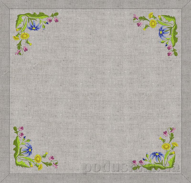 Настольник Полевые цветы Гармония 12360 серый лен