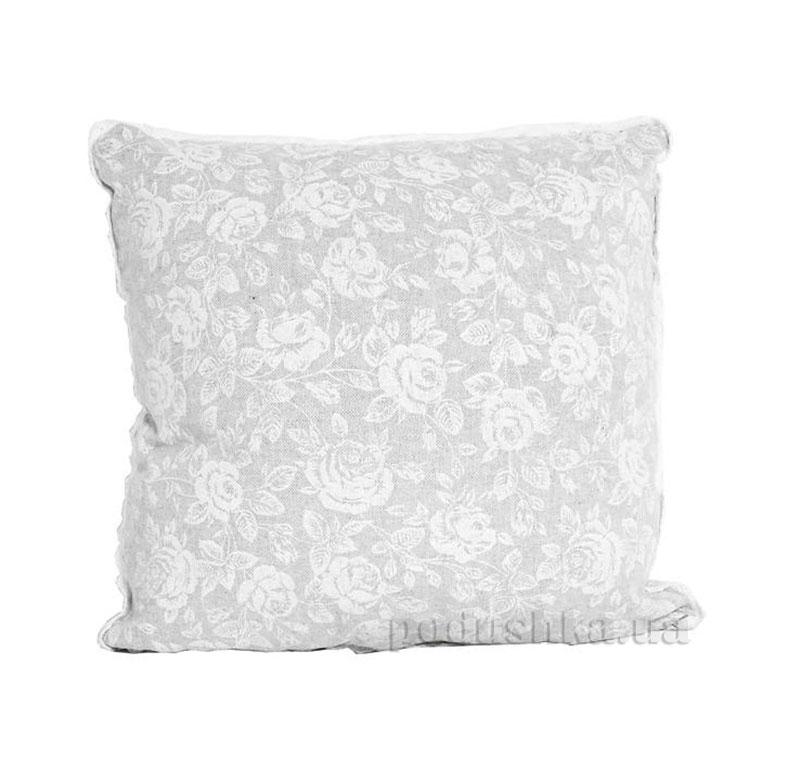 Наволочка декоративная Прованс White Rose с кружевом