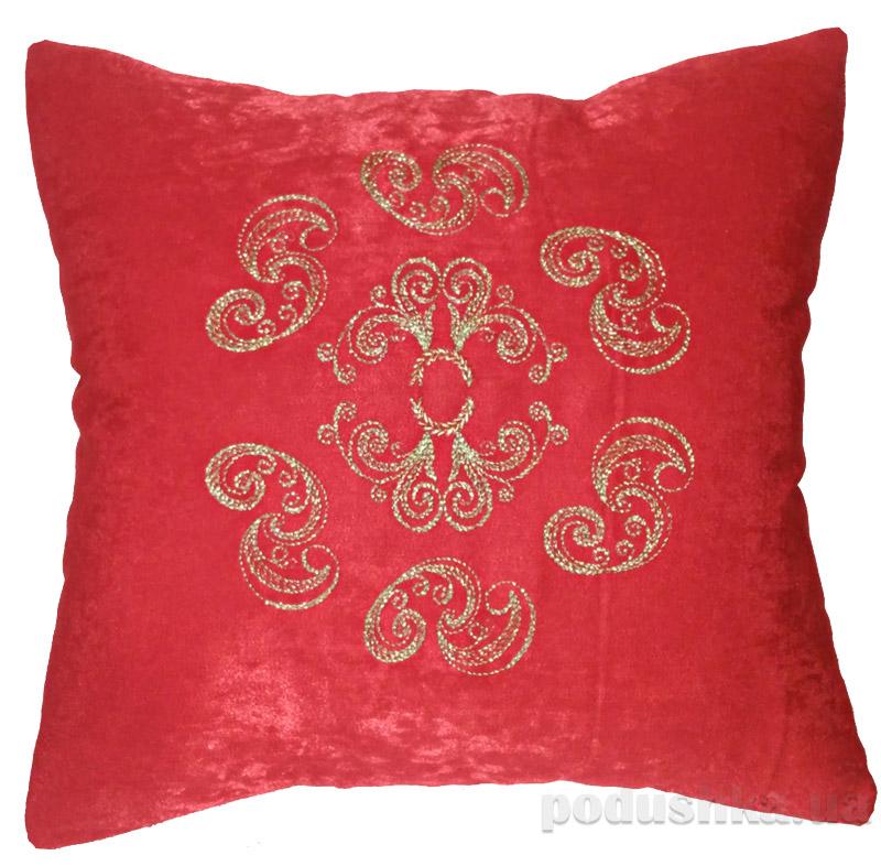 Наволочка декоративная с вышивкой Украина Н11-Красн Золото