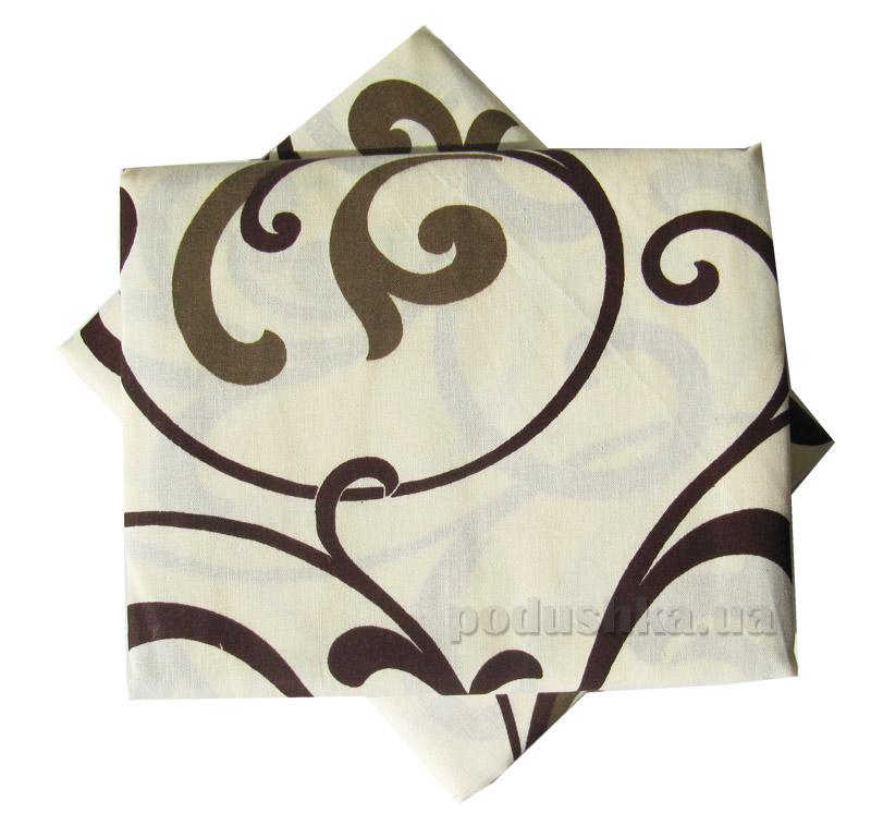 Комплект наволочек Вилюта 5400 Абстракция светло-коричневые