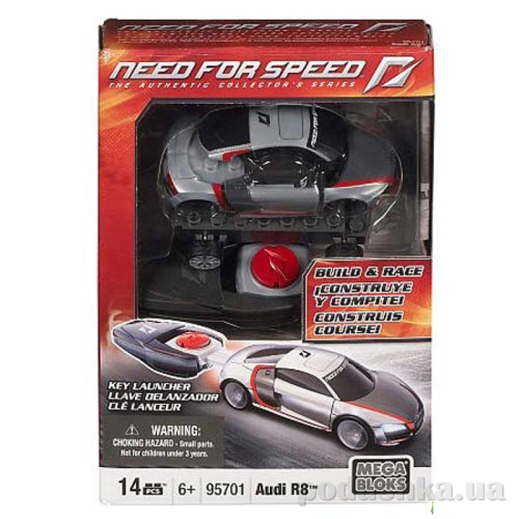 Need for Speed Автомобиль Audi R8 95701 Mega Bloks