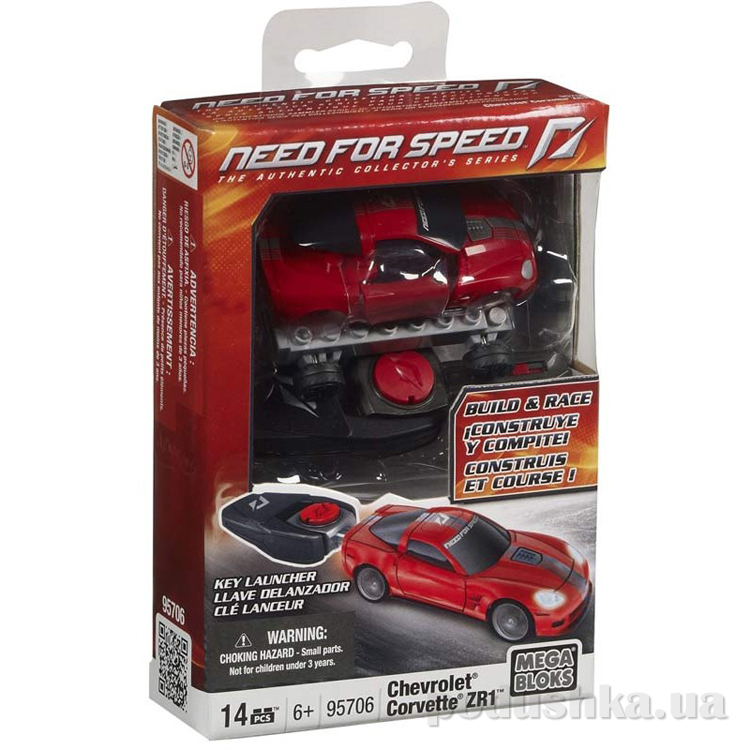 Need for Speed Автомобиль Chevrolet ZR1 95706 Mega Bloks
