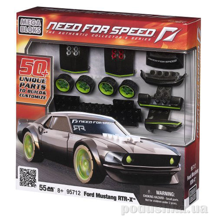 Need for Speed Автомобиль Ford Mustang RTR X 95712 Mega Bloks