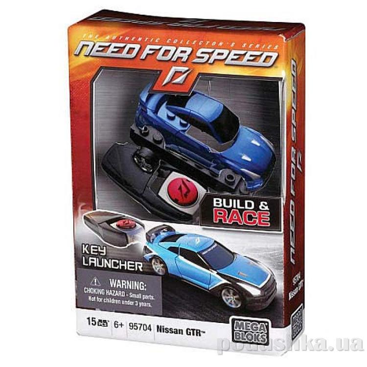 Need for Speed Автомобиль Nissan GTR 95704 Mega Bloks