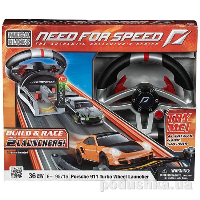 Need for Speed Руль управления и автомобиль Porsche Turbo 95716 Mega Bloks